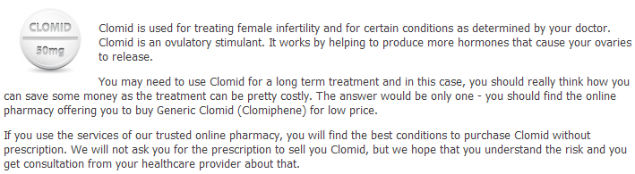 Information About Clomid